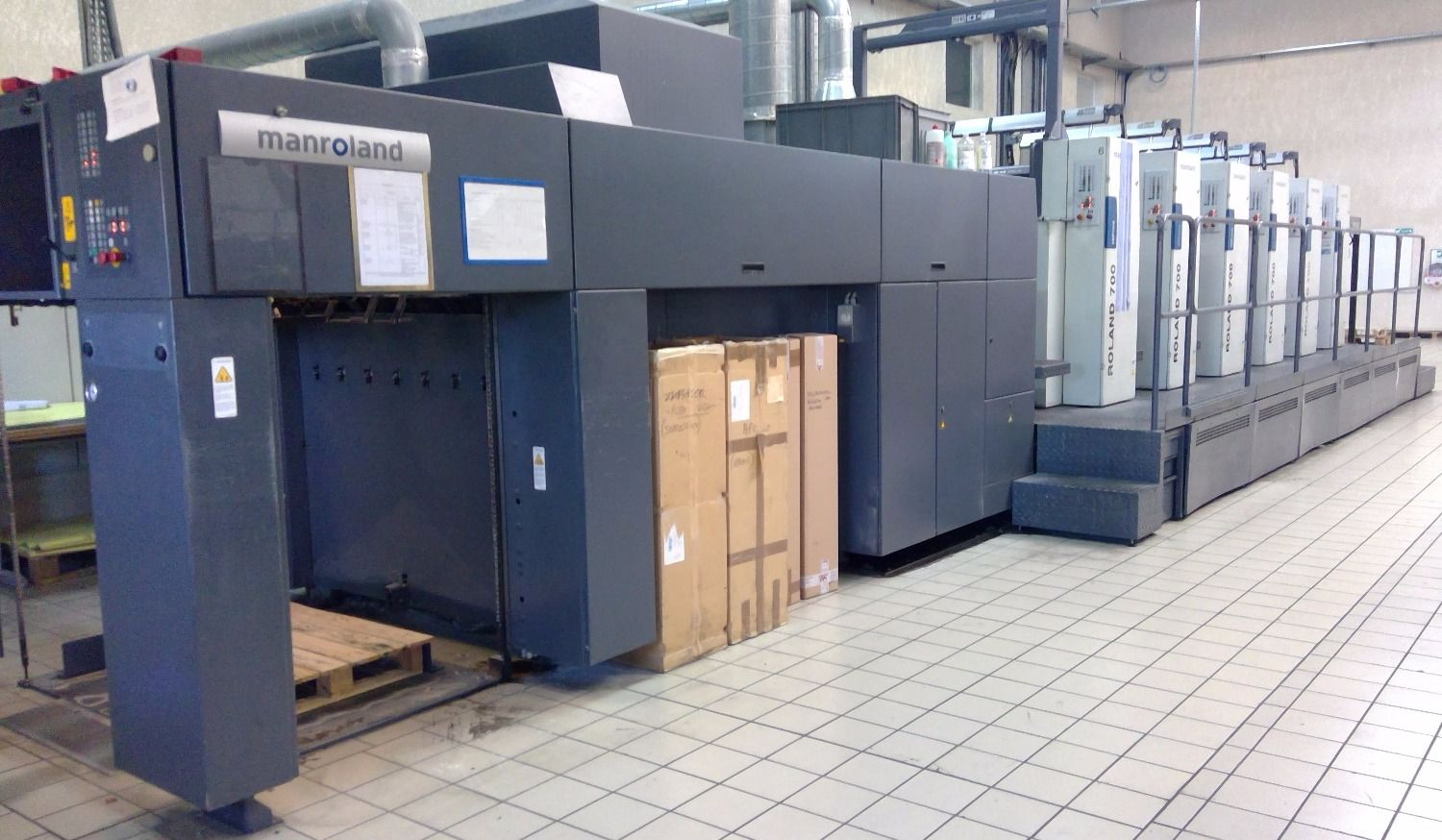 Roland 705 HiPrint year 2008 with coater