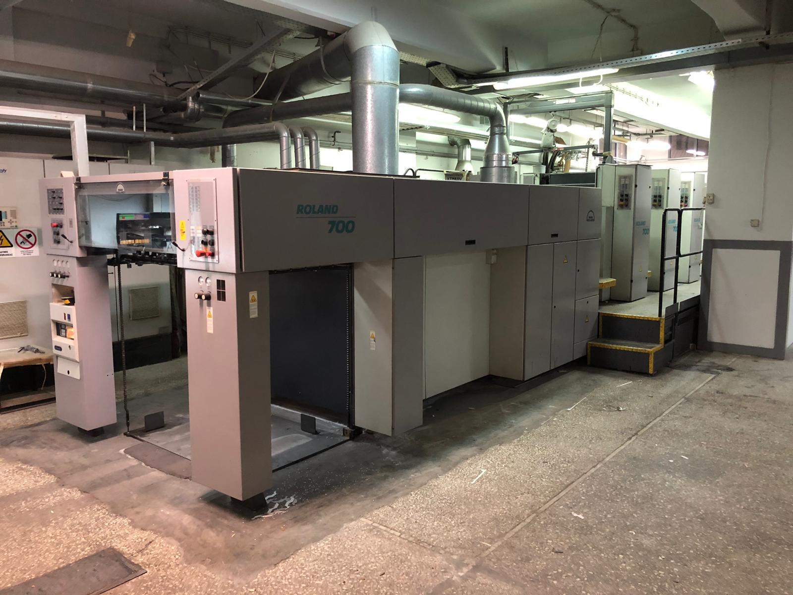 Roland 705 with coater year 2001 for bivalent use